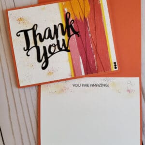 thank you card front and inside